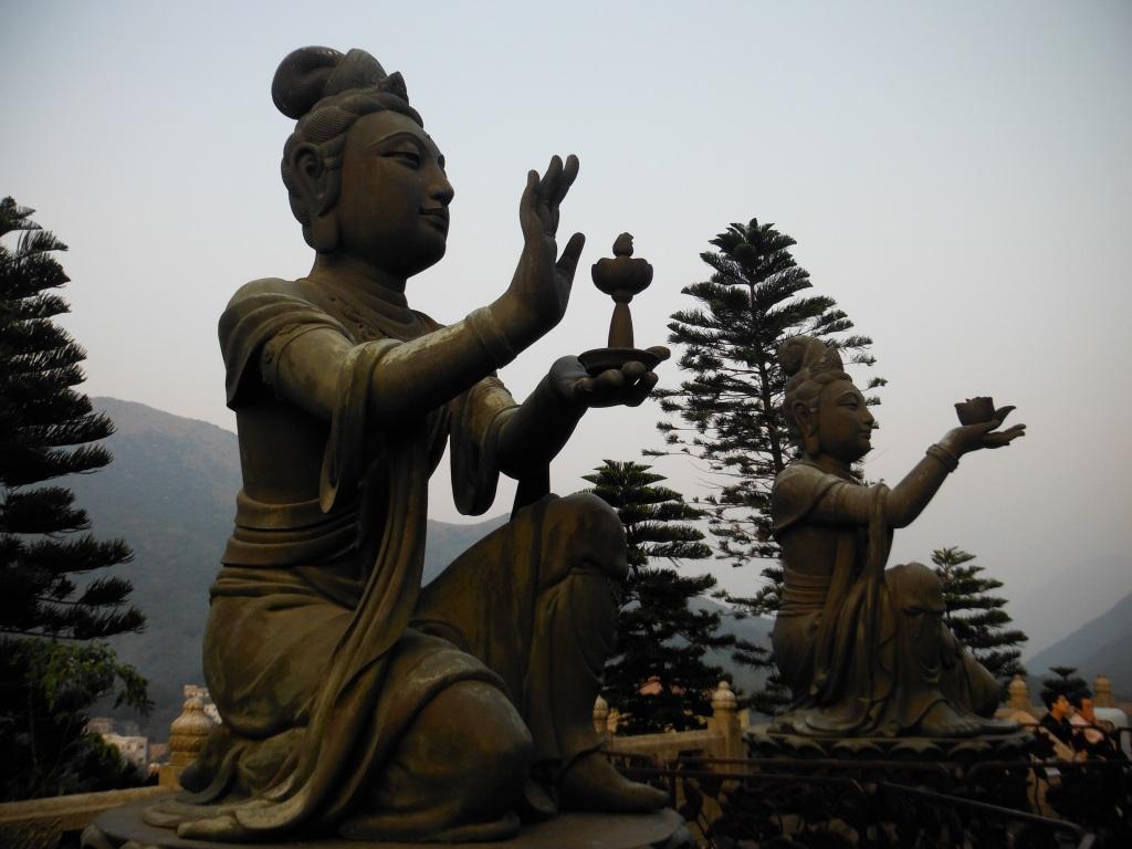 Devotees Big Buddha Lantau Island, Hong Kong LisaDeviAdventures