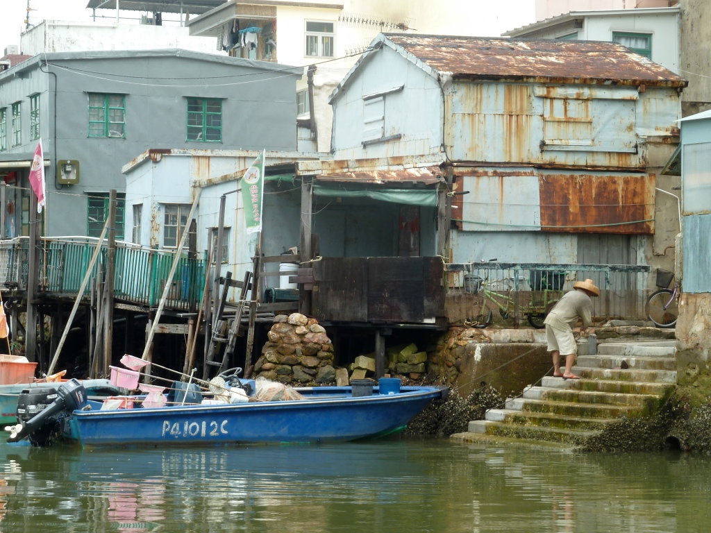 Docking Boat Tai O Fishing Village Hong Kong LisaDeviAdventures