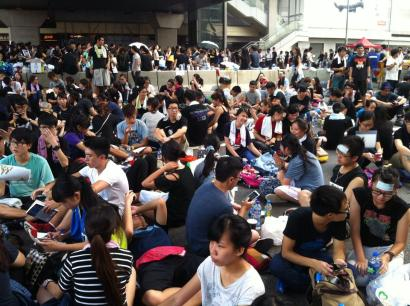 Occupy Central Hong Kong Crowd