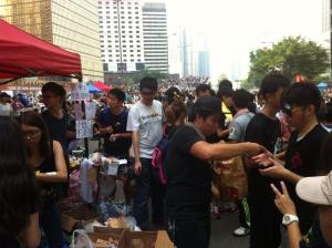Occupy Central Fight for Democracy Relief Booth