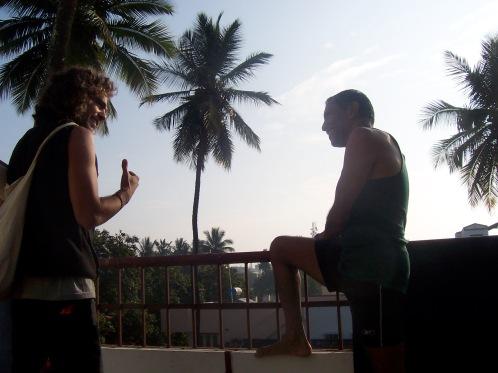 Sheshadri and Palm Trees LisaDeviAdventures