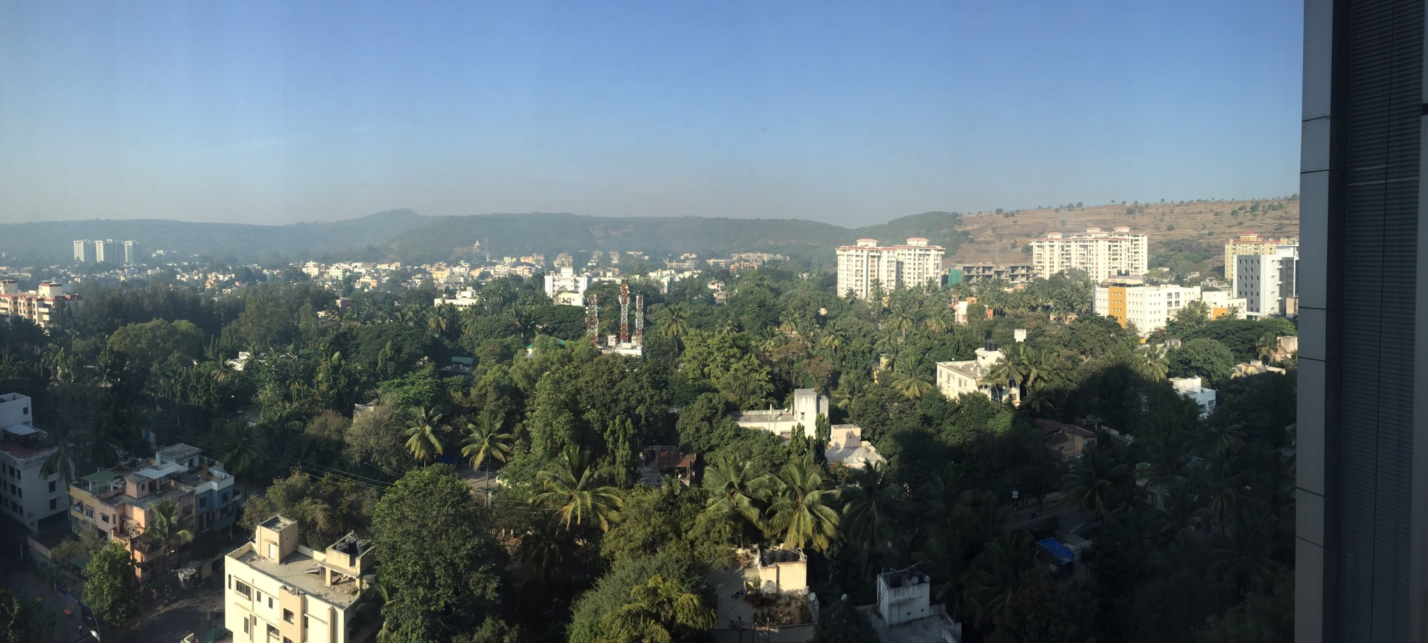 Pune India from the JW Marriot